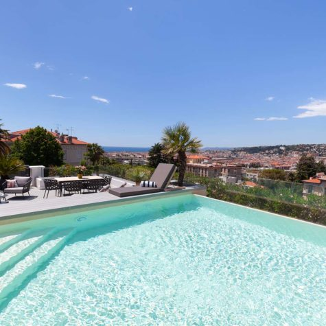 Rénovation d'un appartement et piscine panoramique de 120m2 à Nice Cimiez